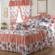 The beautiful Romance bedspread Set is available in various sizes to fit your needs and can be coordinated with the romance Coral Curtains for a complete. Pink Bedding, Bedding Sets, Bedroom Colors, Bedroom Decor, Luxury Bedspreads, Bed Cover Design, Designer Bed Sheets, Floral Bedspread, Home Curtains