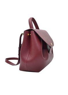 "Edition - Monochrome Burgundy Undeniably feminine for its sensual curves, ""Number One"" is Polène's signature handbag. Soft Leather Handbags, Suede Handbags, Leather Purses, Leather Bags, Types Of Handbags, Small Handbags, Purses And Handbags, Cheap Handbags, Trendy Handbags"
