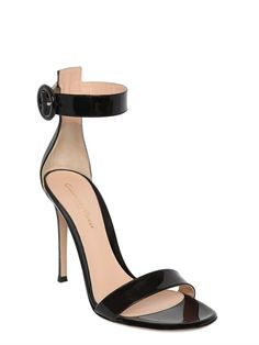 100MM PATENT LEATHER SANDALS
