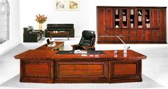 Office Design Office Furniture Suppliers, Executive Office Furniture, Furniture Inspiration, Desks, Corner Desk, Solid Wood, Home Decor, Mesas, Corner Table