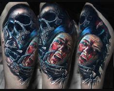 Tattoo artist Valentina Ryabova color realistic tattoo