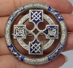 Victorian Irish Celtic Silver & Enamel Brooch c.1870 Celtic Symbols, Celtic Art, Celtic Dragon, Celtic Knots, Celtic Patterns, Celtic Designs, Irish Jewelry, Viking Jewelry, Mononoke Cosplay