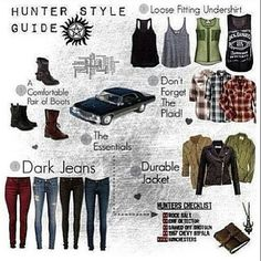 The Supernatural nerd in me is very happy about Hunter Fashion lol Supernatural Logo, Supernatural Outfits, Supernatural Fashion, Supernatural Cosplay, Castiel, Supernatural Birthday, Supernatural Jewelry, Supernatural Halloween Costumes, Supernatural Crafts