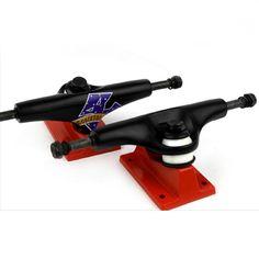 Pro Skateboard Trucks 7.6 Mid Profile Black Magic