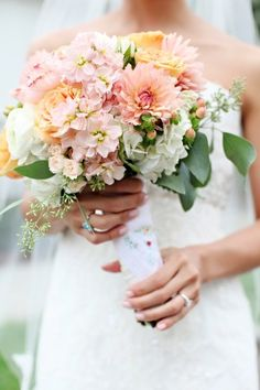 Soft pastel bridal bouquet from Serendipity Designs | photography by http://www.whiteboxweddings.com/