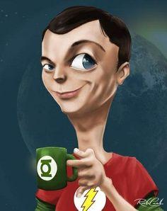 """Sheldon comemorando a renovação do contrato da série """"The Big Bang Theory"""" por mais três anos. Claro, com café. #LombasCafe"""
