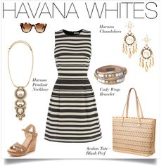 Havana Whites are calling your name with this ponte dress, wedge heel shoes paired with jewelry & handbags from Stella & Dot. www.stelladot.com/jessicasmith