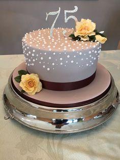 75Th Birthday Cake on Cake Central