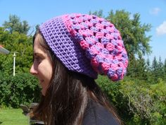 ON SALE Today Only  Crocheted Pink & Purple Slouch by ACCrochet, $16.00