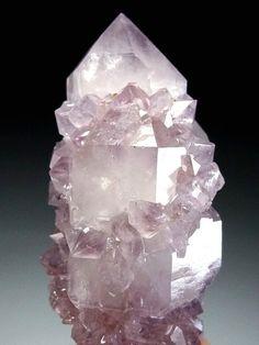 Light Amethyst Cactus Quartz Crystal eBay