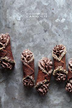 Chocolate Cannoli via Delish Dish | BHG