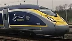 De neus van een Eurostar e320, hier bij passage in het station Noorderkempen.