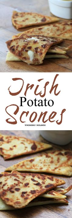 Irish Potato Scones by Noshing With The Nolands are scrumptious served warm right out of the pan with butter! Serve these for St. Patrick's Day or any day!