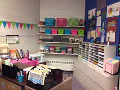 Middle School Math Rules!: Classroom Photos-Part II  This is a dream teacher area! OCD HEAVEN!