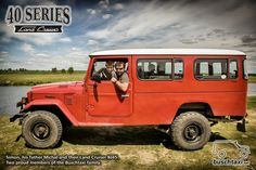 Simon and his father Michal in their Land Cruiser BJ45. Two proud members of the…
