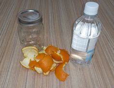 An Insanely Easy Eco Oven Cleaner, peel 2 oranges and put peels into mason jar. Fill jar with vinegar and let sit 5 days then strain putting liquid into spray bottle. Sprinkle oven with baking soda and spray surface liberally. Wait 20 minutes then wipe clean.