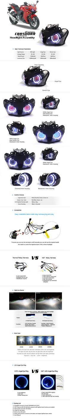 Honda CBR500R Angel Eye HID Projectors Custom Headlight Assembly 2013-2014http://www.ktmotorcycle.com/custom-headlights/honda-custom-headlights/honda-cbr500r/honda-cbr500rr-angel-eye-hid-projector-custom-headlight-assembly-2013-2014.html