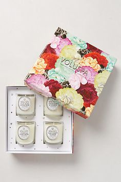 Give mom some fresh scents with these garden-themed scented candles - Voluspa Maison Jardin Votives from Anthropologie.