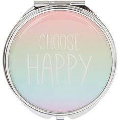 Choose Happy Compact Mirror (5.62 AUD) ❤ liked on Polyvore featuring beauty products, beauty accessories and makeup