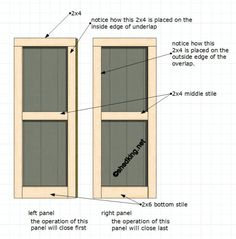 Double Shed Door Parts