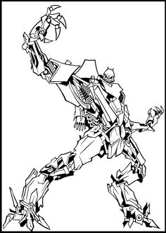 Transformers Starscream coloring picture for kids
