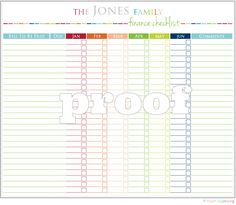 Personalized Finance Checklist Printable by IHeartOrganizing, $3.00