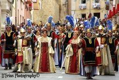 Moros y Cristianos .Biar-Alicante .Cristianos Blavets