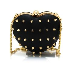 spiked heart clutch ($36) found on Polyvore