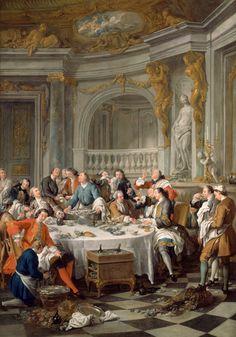 Jean-François de Troy:Oyster Lunch 1735