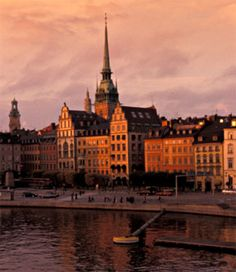 Stockholm, Sweden - the Gamla Stan is beautiful anytime of day but twilight is especially magical.