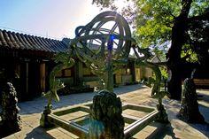 Beijing -- Sculpture in Ancient Observatory.