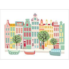 Love Amsterdam and this print from Laura Amiss