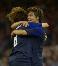 Big Hug of Joy,Miyama and Ohno,Olympic 2012@【コメント集】なでしこ「闘志の守備」ブラジル撃破