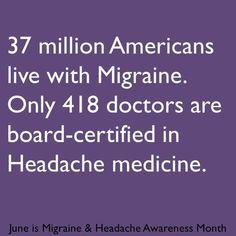 Migraine & Headache Awareness Month 2013 infographic #migraineinfographics