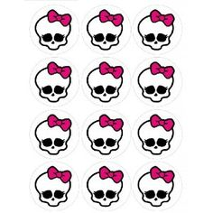 Single Source Party Supplies  25 Monster High Cupcake Edible Icing cakepins.com