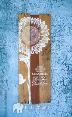 Pallet Art Sunflower Welcome Home Wall by TealElephantBoutique
