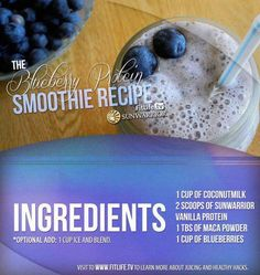 The Blueberry Protein Smoothie..  This is really nutritious and refreshing! Are you making this now?
