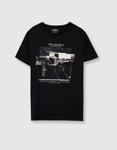 Camiseta print `into the wild´ - Camisetas - Ropa - Hombre - PULL BEAR  México    6e2062d31ec