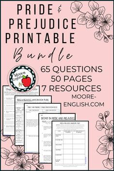Pride and Prejudice by Jane Austen is a classic piece of British literature and a staple in many senior English course and AP Literature classes. This is one of my favorite texts to teach because it lends itself to discussions of irony, characterization, social class, gender, and historical context. Use these graphic organizers, reading questions, and analysis prompts to guide students! Everything is available in a fillable .pdf, Google Slides, and Google Forms! This resource is ready to…