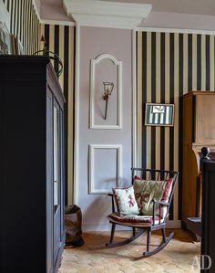 Розовый дом в Нормандии   Интерьеры в журнале AD   AD Magazine