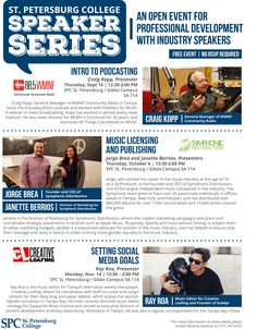 Attend one of these upcoming #SPCollege Speaker Series events. FREE #professionaldevelopment events open to the public.