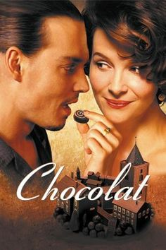 Chocolat is the 2000 British-American romantic comedy-drama film directed by Lasse Hallström (The Cider House Rules) starring Juliette Binoche, Judi Dench and Johnny Depp Johnny Depp Chocolat, Film Movie, See Movie, Juliette Binoche, Movies Showing, Movies And Tv Shows, Rachel Portman, Thriller, Johny Depp
