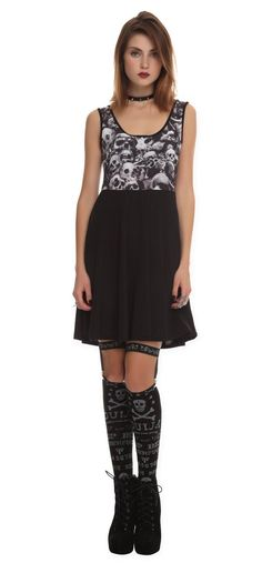 Gothic Teenage Runaway Skulls Dress for sale by Luther's Teeth at MoreThanHorror.com