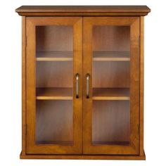 Aida 24 in. H x 20.5 in. W x 08.5 in. D Wall Cabinet in Oil Oak Color-HDT540 - The Home Depot