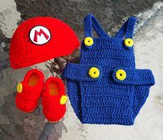 #BabySuperMario #CrochetDiaperCover Set #CrochetBabySet #BabyClothesSet #Baby