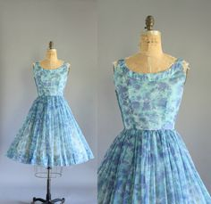 Vintage 50s Dress/ 1950s Party Dress/ by WhenDecadesCollide