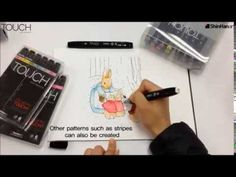 ▶ #ShinHan Touch Twin Marker Pen - Colourless Blender Techniques - Part 2 - #video on #YouTube