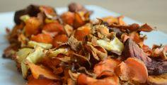 Groentechips zijn hét gezonde antwoord op normale chips. Je maakt het makkelijk zelf van groentes naar keuze - wortel, pastinaak, zoete aardappel en biet.