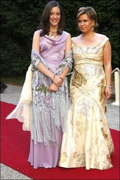 Princess Alexandra and her mother Grand Duchess Maria Teresa of Luxembourg, hosted the Gala dinner and dance at the Berg castle Jul 2006