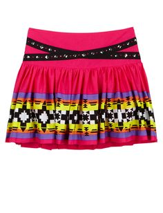 Girls Clothing | Skirts & Skorts | Pleated Tribal Print Skirt | Shop Justice